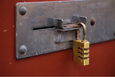 Lock on Storage Unit